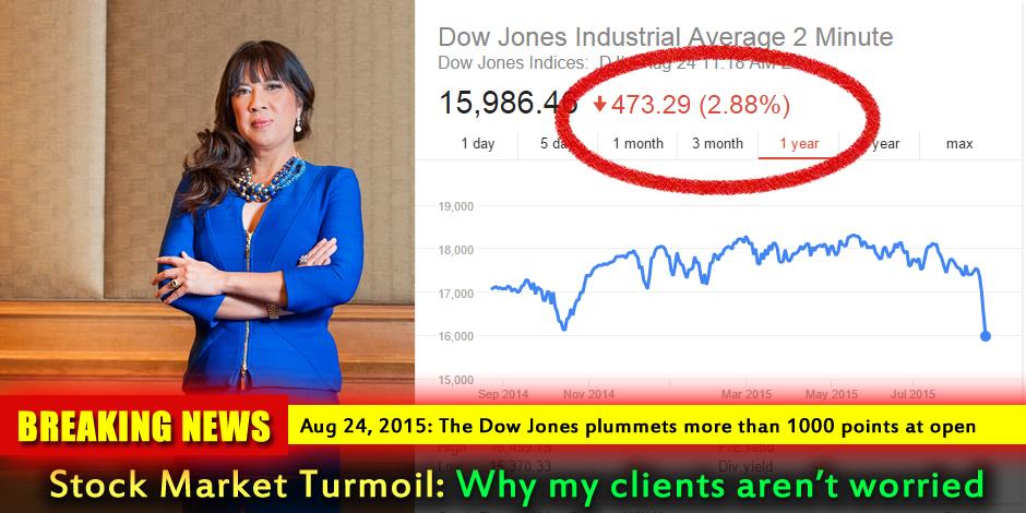 Dow Jones plummets August 24, 2015
